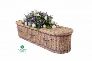 Oval Willow Coffin