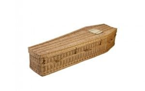 Traditional Wicker Coffin