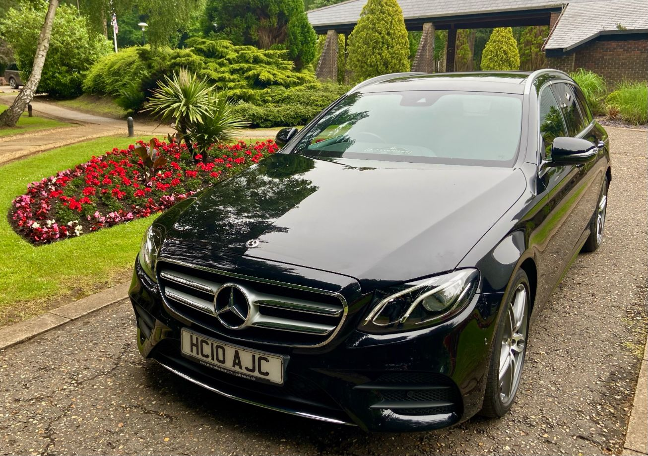Mercedes E class estate. Seating for 3-4 people
